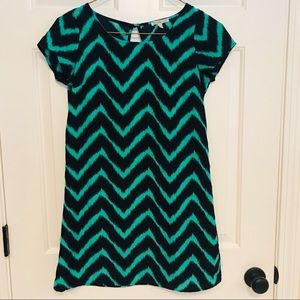 Charlotte Russe teal and navy dress - Size S